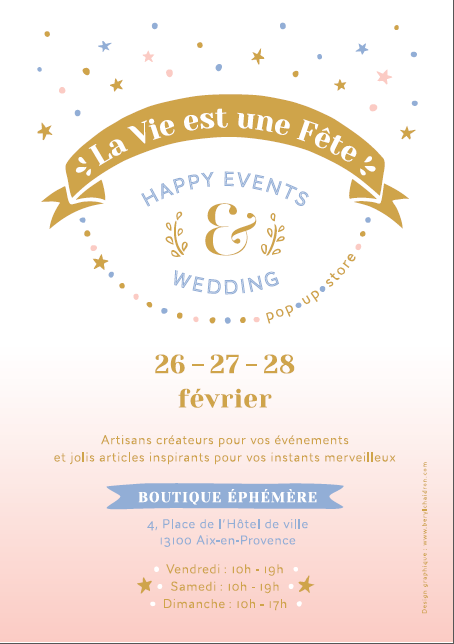La vie est une fête. Happy Events & Wedding